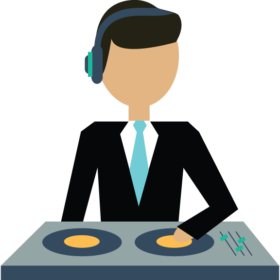 Your DJ runs your WHOLE reception as MC, then rocks the dance floor when dinner is done.