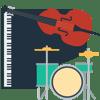 jazz trio (piano, drums & bass)