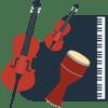 piano, percussion, violin & cello